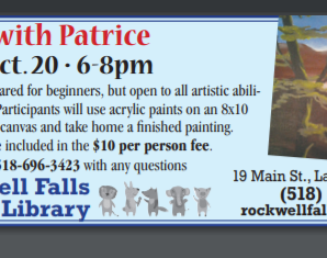 Paint with Patrice Wed Oct 20 6-8 PM